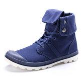 Nouveau mode hommes occasionnels chaussures de toile de haut haut en plein air chaussures de sport baskets à lacets