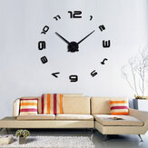 Grande DIY 3D Wall Reloj Home Decor Espejo Sticker Art decorativo Reloj