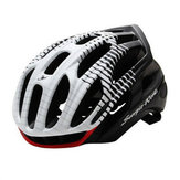 CAIRBULL 56- 62cm Casco Ciclismo Llevaba Casco Transpirable Ligero Casco Bicicleta Luces de Advertencia de Seguridad