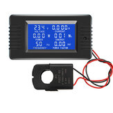 PZEM-022 Buka dan Tutup CT 100A AC Digital Display Power Monitor Meter Voltmeter Ammeter Frekuensi Current Voltage Factor Meter dengan Split CT