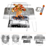Portable Folding Barbecue Grill Stainless Steel Camping Stove for Outdoor Picnic Camping