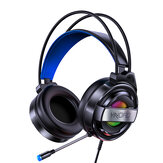 Fone de ouvido para jogos YINDIAO Q3 Som estéreo 3D de 7.1 canais USB / 3,5 mm Fone de ouvido de redução de ruído com fio com microfone para computador laptop PC