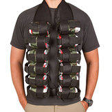 KALOAD 12x flasker Holster Tactical Belt Outdoor Party Bottle Vest