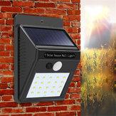 3 stks Zonne-energie 20 LED PIR Bewegingssensor Wandlamp Waterdichte Outdoor Path Yard Tuin Beveiliging Lamp