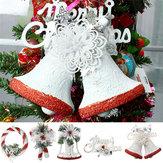 Weihnachtsfeier Dekoration Weiß Handgemalte Baum Ornament Anhänger Tür Hängen Kinder Geschenk