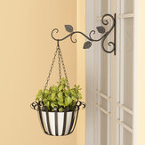 Wall Hanging Flower Stand Outdoor Balcony Hanging Basket Stand Green Radish Hanger Wrought Iron Hook Hanger