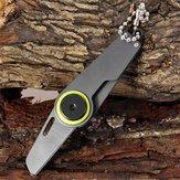 Çok fonksiyonlu Taşınabilir Mini Katlanır Outdooors Kampçılık Aletler Survival Çelik Anahtarlık Gri