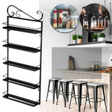 Five-layer Wrought Iron Storage Kitchen Rack Household Bathroom Arrangement for Sitting Room Receives