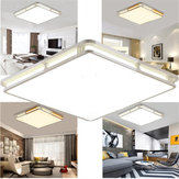 24W 1000LM Modern Square Acrylic LED Luzes de teto Flush Mount Light Fixture for Bedroom 110V-220V