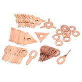48pcs Stud Welding Kit Accessories Straight Twisted Dent Pulling Rings Round Star Pads Washer