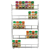 5 Tiers Kitchen Spice Rack Cabinet Organizer Wall Mount Storage Shelf Holder Kitchen Storage Rack