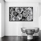 1ピースキャンバスプリント絵画グレーローズ壁装飾プリントアート写真壁掛け装飾ホームオフィス用フレームなし
