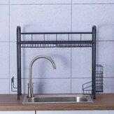 Porte-couverts en acier inoxydable sur évier de cuisine