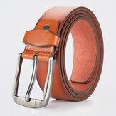 メンズフェイクレザー120CMピンバックルビジネスカジュアルファッションレザーパンツベルト