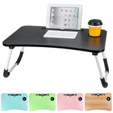 60 x 40 x 28cm Bed Tray Desk Folding Computer Desk With Card Slot And Cup Holder