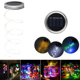 Solar Powered 2M 20LEDs Mason Jar Lid Insert Fairy String Light for Garden Christmas Party Decor