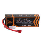 ZOP Power 7.4V 8000mAh 35C 2S2P Lipo Battery T Plug for RC Car RC Airplane