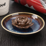 Ceramic Incense Burner Holder Burner Lotus Plate Censer Home Fragrances 3 Incense Holes