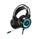 G60 Gaming Headset 7.1 Channel 50MM Speaker Unit Colorful Circular Breathing Light HIFI Cinema Sound 360° Omnidirectional Microphone