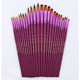 12 pcs / pack Ukuran Yang Berbeda Artis Halus Nylon Rambut Lukisan Sikat Set Untuk Cat Air Lukisan Kuas Akrilik Gambar Art Supplie