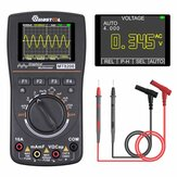 MUSTOOL MT8208 HD Intelligentes grafisches digitales Oszilloskop-Multimeter 2 in 1 mit 2,4-Zoll-Farbbildschirm 1 MHz Bandbreite 2,5 Msps Abtastrate für DIY- und elektronische Tests Upgrade von MT8206