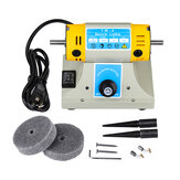 US/EU 350W Adjustable Speed Mini Polishing Machine For Dental Jewelry Motor Lathe Bench Grinder Kit