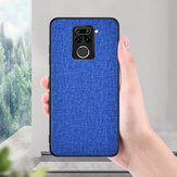 Bakeey for Xiaomi Redmi Note 9 Case Luxury Breathable Canvas Sweatproof Shockproof TPU Protective Case