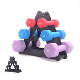3-Tier Dumbbell Storage Rack Stand Multilevel Hand Weight Tower Stand For Gym Organization Body Building Storage Supplies