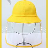 مكافحة الضباب قبعة دلو الغبار قبعة صفراء للبنين والبنات مكافحة الغبار ومكافحة الضباب