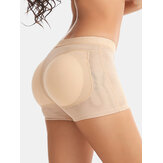Women Seamless Solid Clolor Lift Hips Shaping Panties With Padded