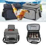 15LOutdoorPiknikIsıYalıtımlıSoğutucu Çanta Öğle Yemeği Yiyecek Kutu Konteyner Depolama Çanta