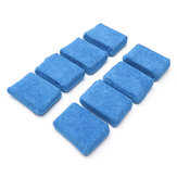 8Pcs Blue Microfiber Applicator Cleaning Sponge Pads for Car Wash Wax Polishing Cleaning