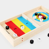 2 IN 1 Wooden Shuffleboard Tabletop Board Game Two-Silde Play Toys for Kids Gift