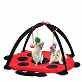 Pet Cat Odtwórz Bed Activity Tent Playing Toy Ćwiczenie Kitten Pad Mat Bells House