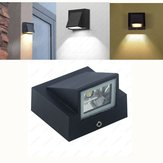 3W Warm White/White Waterproof Outdoor LED Wall Lamp for Gate Balcony Garden Yard AC85-265V