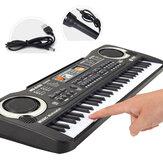 Kid's Starter 61 Teclas Pequena Música Eletrônica Teclado Digital Teclado Placa Órgão Elétrico Piano Brinquedos Presente