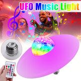 18W E27 bluetooth RGB LED ampoule UFO musique lampe de Garage télécommande KTV éclairage de fête 85-265V