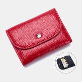 حقيبة نسائية جلد طبيعي متعددة الوظائف بنمط الليتشي محفظة صغيرة