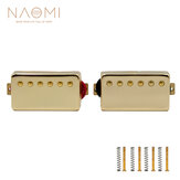 NAOMI 2 Pcs Electric Guitar Pickups Closed Seal Golden Color Neck Guitar Double Coil Humbucker Pickups Set