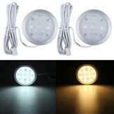 6Pcs 12V LED Spot Light Lâmpada Interior Downlight W / remoto Para VW T4 T5 RV Caravan