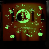 Creative Halloween Series Fluorescent Luminous Paste Stickers Night Light Bar KTV Decorative Wall Sticker Can Be Removed DIY PVC Permanent Luminous Paste Stickers for Festival Party Decor