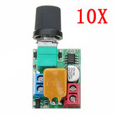 10pcs DC 5V To 35V 5A Mini Motor PWM Speed Controller Ultra Small LED Dimmer Speed Switch Governor