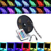 0,5 / 1/2/3/4 / 5M SMD5050 RGB LED Strip lampe Bar TV Backlilning Kit + USB Fjernbetjening DC5V