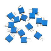 65Pcs 100R-1M 3296 Potentiometer Package 3296W Potentiometer Adjustable Resistor