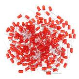 200pcs 5MM Rojo LED Diodo Redondo Difundido Luz de color rojo Lámpara F5 DIP Destacado