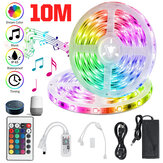 32.8ft RGB LED Strip Lights, Smart Home Alexa Wifi Wireless Controlled Light Strip Rope Kit Christmas Decorations Lights Working with Alexa & Assistant with 24key Remote Controller