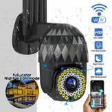 Guudgo 1080P 39 LED 5 XZOOM Outdoor PTZ IP Black Camera Two Way Audio Wifi Camera Auto Waterproof Night Vision CCTV Video Surveillance