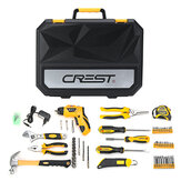 CREST 105095 Household Electric Screwdriver Repair Kit Tools with Plastic Toolbox