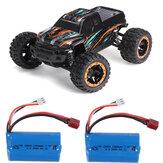 2バッテリー付きHBX16889 1/16 2.4G 4WD 45km / hブラシレスRCカーLEDライトオフロードトラックRTRモデル