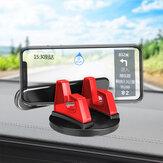 Bakeey 2-IN-1 universal 360 ° giratório painel do carro suporte para celular suporte com placa de cartão de estacionamento com número luminoso